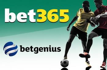 Il logo di bet365, il logo di Betgenius, due calciatori che si contendono un pallone