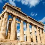 Una veduta del Partenone di Atene