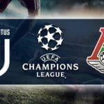 I loghi di Juventus, Lokomotiv Mosca e Champions League