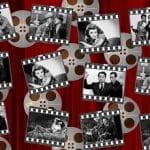 Una serie di fotogrammi di vecchi film in bianco e nero