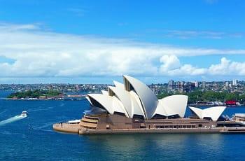 Una veduta dell'Opera House di Sidney, Australia