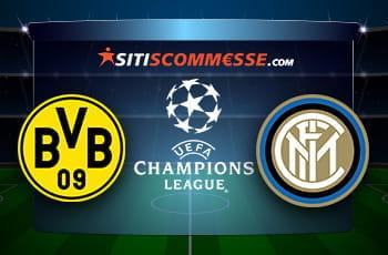 I loghi di Borussia Dortmund, Inter e Champions League