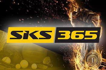 Un pugno alzato e il logo di SKS365