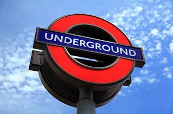 Il logo della Underground di Londra