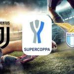 Il logo della Juventus, il logo della Lazio, il logo della Supercoppa italiana