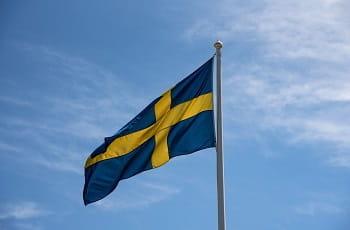 La bandiera della Svezia
