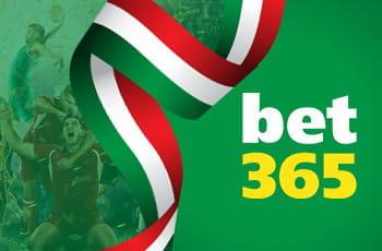 Il logo del bookmaker bet365 e un nastro con la bandiera italiana