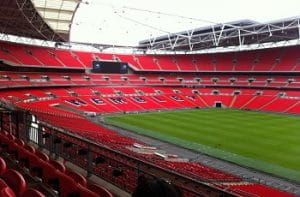 Le tribune dello stadio di Wembley