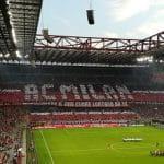 Lo stadio di San Siro durante una partita del Milan