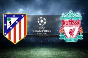I loghi di Atletico Madrid, Liverpool e Champions League