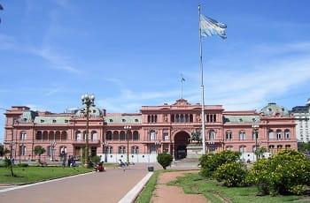 Una veduta della Casa Rosada a Buenos Aires