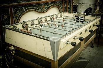 Un tavolo da calcio balilla