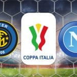 I loghi di Inter, Napoli e Coppa Italia