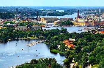 Una veduta di Stoccolma, in Svezia