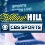 Il logo del bookmaker William Hill e il logo dell'emittente CBS