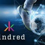 Il logo del gruppo Kindred e un piede che calcia un pallone
