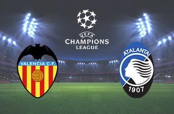 I loghi di Valencia, Atalanta e Champions League