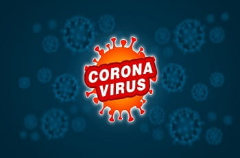 La stilizzazione della molecola del coronavirus