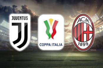 I loghi di Juventus, Milan e Coppa Italia