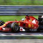 Una Ferrari di Formula 1 in azione