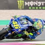 Valentino Rossi in azione su Yamaha