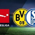 I loghi della Bundesliga, del Borussia Dortmund e dello Schalke 04