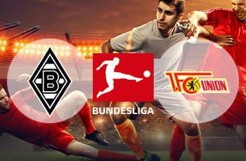 I loghi di Borussia Mönchengladbach, Bundesliga e Union Berlino