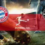 I loghi di Bayern Monaco, Bundesliga e Borussia Mönchengladbach