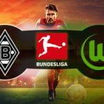 I loghi di Borussia Mönchengladbach, Wolfsburg e Bundesliga