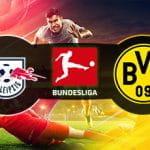 I loghi di RB Lipsia, Borussia Dortmund e Bundesliga