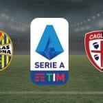 I loghi di Verona, Cagliari e Serie A