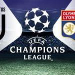 I loghi di Juventus, Olympique Lione e Champions League