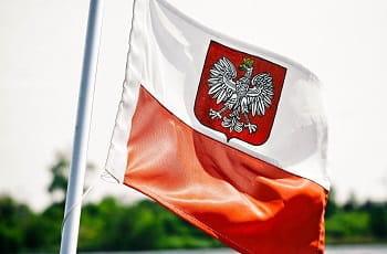 La bandiera della Polonia