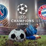 I loghi di Paris Saint-Germain, Bayern Monaco e Champions League