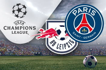 I loghi di Lipsia, Paris Saint-Germain e Champions League