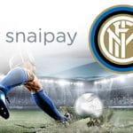 I loghi di snaipay e Inter e un calciatore al tiro