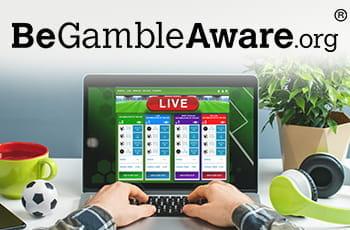 Un laptop collegato alla pagina live di un bookmaker online