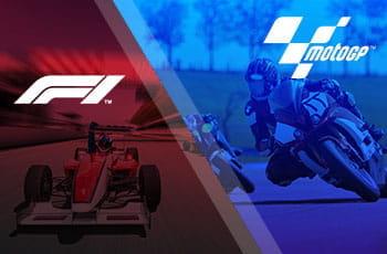 I loghi della Formula 1 e della MotoGP