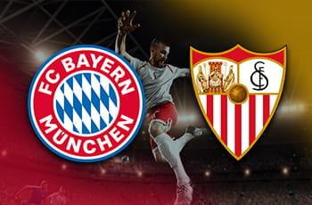 I loghi di Bayern Monaco e Siviglia