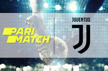 I loghi di Parimatch e Juventus