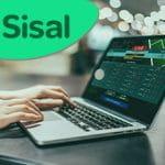 Il logo di Sisal e un desktop aperto su un sito scommesse online