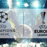 Il logo della Champions League e il logo dell'Europa League