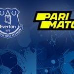 I loghi di Everton e Parimatch