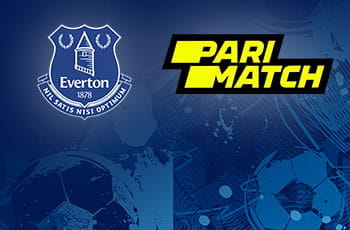 I loghi di Everton e Parimatch