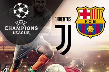 Il logo della Juventus, il logo del Barcellona