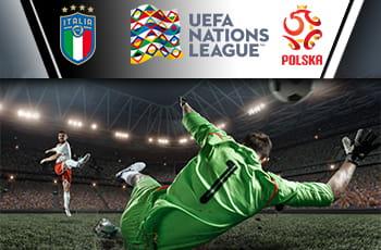 Il logo della nazionale polacca, il logo della nazionale italiana