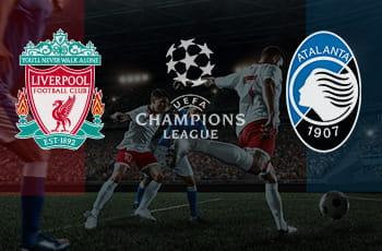 I loghi di Liverpool, Atalanta e Champions League