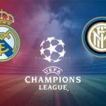 I loghi di Real Madrid, Inter e Champions League