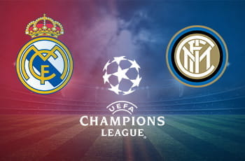 I loghi di Real Madrid, Inter e Champions League