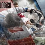 I loghi di LOGiCO e della Lega Serie A e calciatori in azione durante una partita
